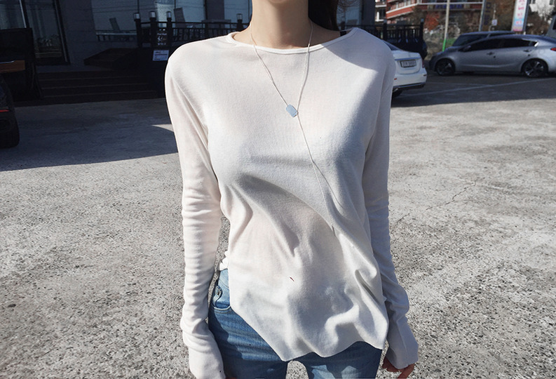 [자체제작] lady slit tee (3colors!)