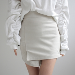 nine skirt (beige, black)