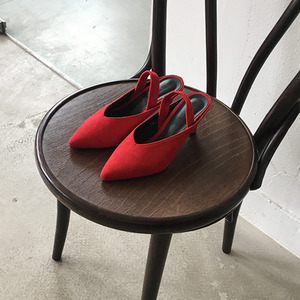 *suede sling back (2colors!)