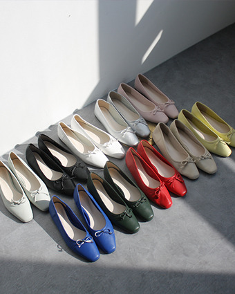 *ribbon plat shoes (10colors!)