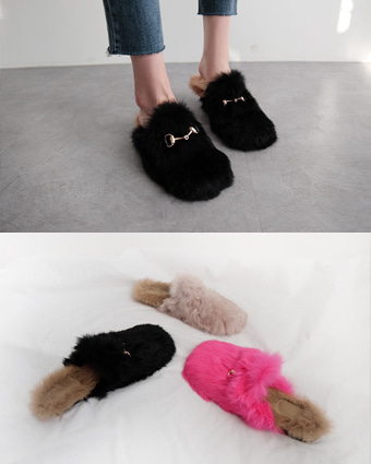 gently fur slipper (3colors!)