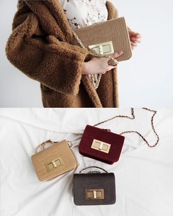 caramel square bag (3colors!)