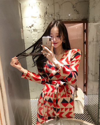 holly knit long dress (3color!) [일주일 소요]