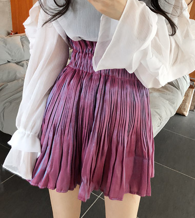 mysterious pleats skirt (2color!)