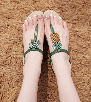 pineapple tree sandal(4colors!)