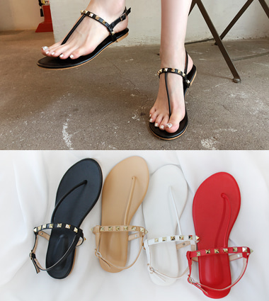 gold stud sandal(4colors!)