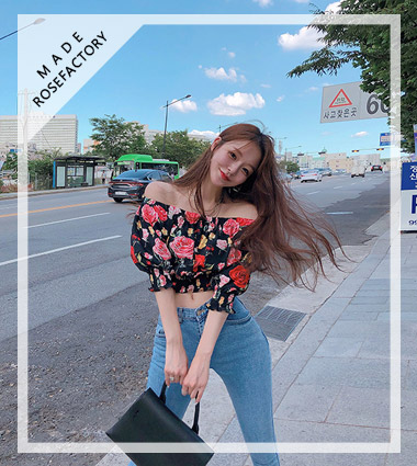 [자체제작]sharon flower blouse