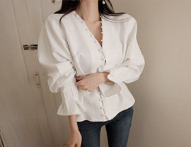 special line blouse (2colors!)  [일주일 지연]