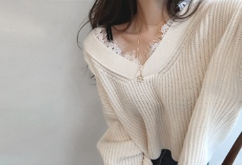 lace layered knit (3colors)